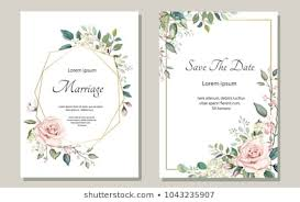 Floral Wedding Invitation Designs Stock Vectors Images