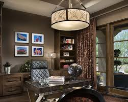 office chandelier lighting. brilliant chandelier contemporary freestanding desk dark wood floor home office idea in phoenix  with gray walls with office chandelier lighting e