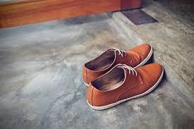 brown shoes on doorstep