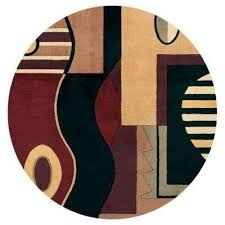 jewel tone multi 8 ft x 8 ft round area rug