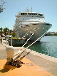 cruise ship seven seas navigator docked in hamilton bermuda