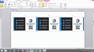 business cards templates microsoft word business card template for microsoft word youtube