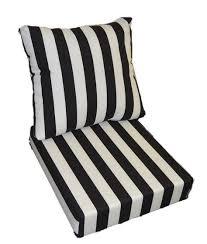 white stripe patio chair seat cushions