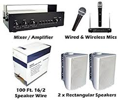 sound system kit. kit outdoor pa sound system bundle baseball field horse arena easy install speakers \u0026 wireless mic microphone kit 1
