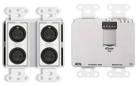 Radio Design Labs Dd Bn40 4x2 Wall Mounted Dante Audio Network Interface