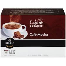 cafe escapes cafe mocha k cup packs coffee