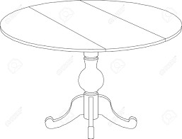 round table clipart black and white. round table drawing stock vector - 22031302 clipart black and white i