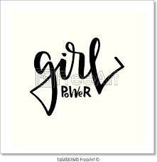 Free Art Print Of Girl Power Text Feminism Slogan Black