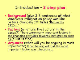 usa higher history usa changing attitudes to immigration why did  21 3 step plan introduction