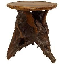 adirondack rustic coffee table rustic adirondack style root side table for sal on custom furnitu