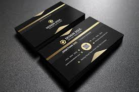 Simple Business Card Template Word Gold And Black Business Card Editable Customizable Easy