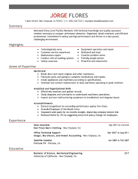 Janitor Resume Sample Gallery of entry level mechanic resume example maintenance 53
