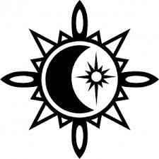 Samolepka Tetování 161 Měsíc A Slunce Autosamolepkycz Samolepky