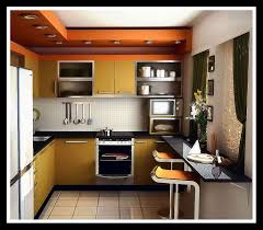Decorating Small Kitchen Interesting Small Kitchen Decorating Ideas With Orange Tile And