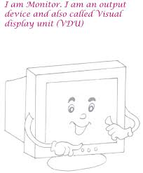 Monitor Coloring Page Printable Computer Parts Coloring Pages