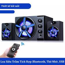 Loa Bluetooth D-215 Hộp Gỗ Super Bass, Loa Di Động , Loa Vi Tính Dùng Cho
