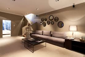 ... Circular Mirror As Decoration Light Brown Wall Paint Make This Interior  Design Looking So Elegant Handmade ...