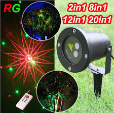 remote controller 2in1 12in1 8in1 20in1 light outdoor garden laser garland waterproof lights decoration for home party laser stage