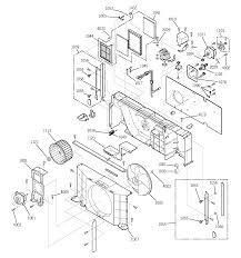 Ge model az35h15d5bm1 air conditioner room genuine parts