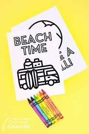 The coloring pages can bring a tremendous amount of benefits and advantages. Summer Coloring Pages Crafts By Amanda