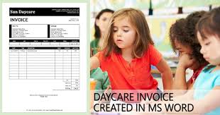 Printable Daycare Invoice Template Created In Ms Word | Bills ...