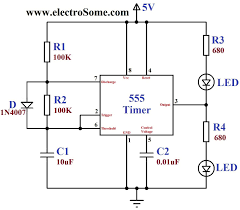 dancing light using 555 timer dancing light using 555 timer circuit diagram