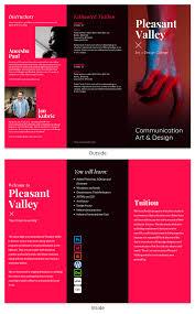 Tri Fold Brochure Online Design College Tri Fold Brochure