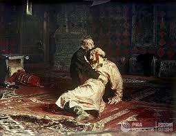 Жестокое детство Ивана Грозного душевнобольного царя одержимого  Картина Иван Грозный и сын его Иван 16 ноября 1581 года