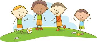playing cartoon kids playing soccer stock vectors 365psd com