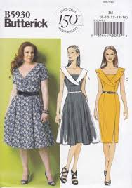 Plus Size Dress Patterns Amazing Butterick Sewing Pattern 48 Womens Plus Size 48W48W Easy Vintage