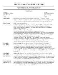 Resume College Teaching Resume