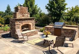 outdoor stone fireplaces large fireplace and kitchen kits ontario