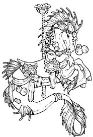 Very Attractive Carousel Horse Coloring Pages Adult To Print Free