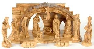 this fine olive wood nativity set comes with a made in bethlehem certificate of authenticity and our holy land treasures gift card
