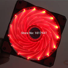 Red Pc Case Lighting Us 61 69 10pcs Lot 4 Pins Cooling Cpu Heatsink Fans 15 Light Led Red Light For Computer Pc Case 120 X 25mm In Fans Cooling From Computer Office