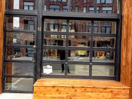 glass garage doors kitchen. Black Metal And Glass Garage Door Storefront Brooklyn Together With Classic Styles Kitchen Overhead Lights. « Doors T