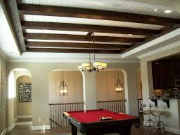 ceiling beams running crosswise