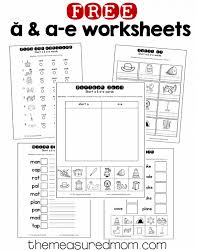 Kindergarten phonics worksheets will help grow your child's reading skills with fun and memorable pictures and stories. Short A A E Worksheets The Measured Mom