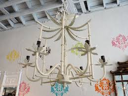 vintage palm beach faux bamboo chandelier