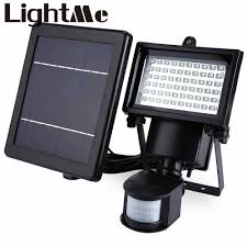 Nature Power 60 Led Solar Security Light Pin On Outdoor Lighting