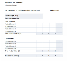 monthly profit and loss statement template free download excel p l template magdalene project org