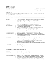 ... Pleasing Resume Fashion Designer Examples Also Objective for Fashion  Resume ...