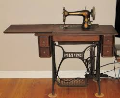 My 1907, treadle-operated Singer sewing machine.