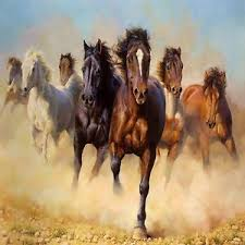 wild horses running. Contemporary Horses Image Is Loading WILDHORSESRUNNINGFREECOASTERSSETOF4 With Wild Horses Running