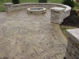 stamped concrete patio with fireplace. Stamped Concrete Patio Fireplace With