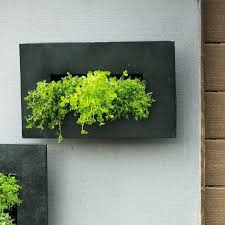galvanized wall pocket zinc pocket metal wall planter
