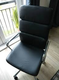 leather swivel office chair. Black Faux Leather Swivel Office Chair Computer Desk Study