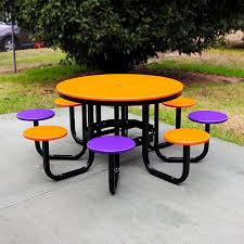 recycled plastic satellite cafe table setting