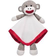 baby starters sock monkey snuggle buddy