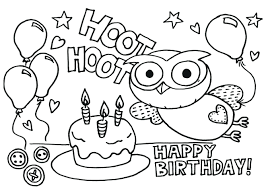 Happy Birthday Mom Printable Coloring Pages Banner Boy Cake Free ...